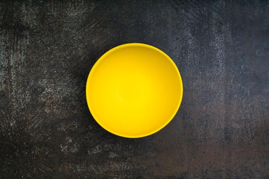 YELLOW matt  bowl