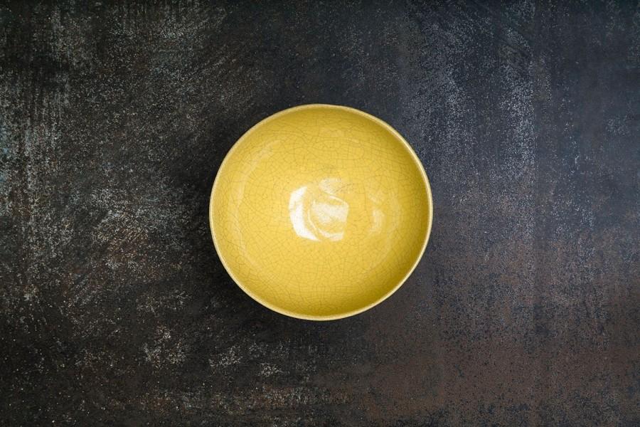 CRAQUELLE yellow bowl