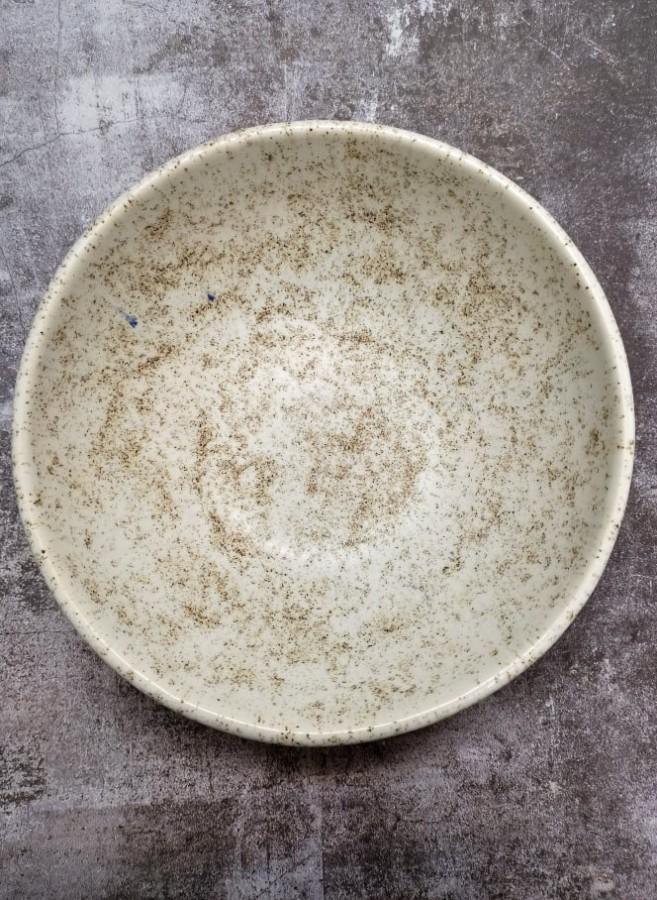 WHITE matt speckled bowl