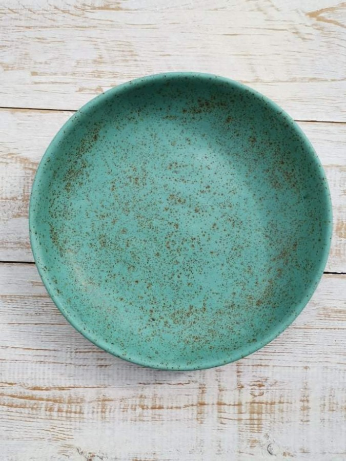 BLUE TURQUOISE deep plate