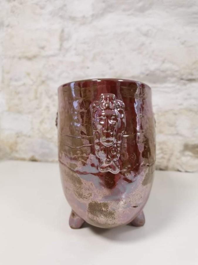 RED GOLD  vase / insert
